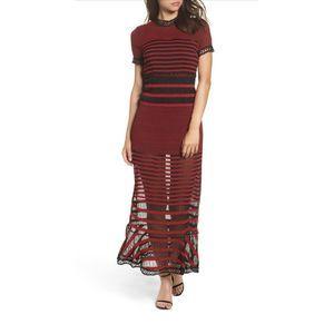 FOXIEDOX | Cassius Striped Sheer Maxi Dress